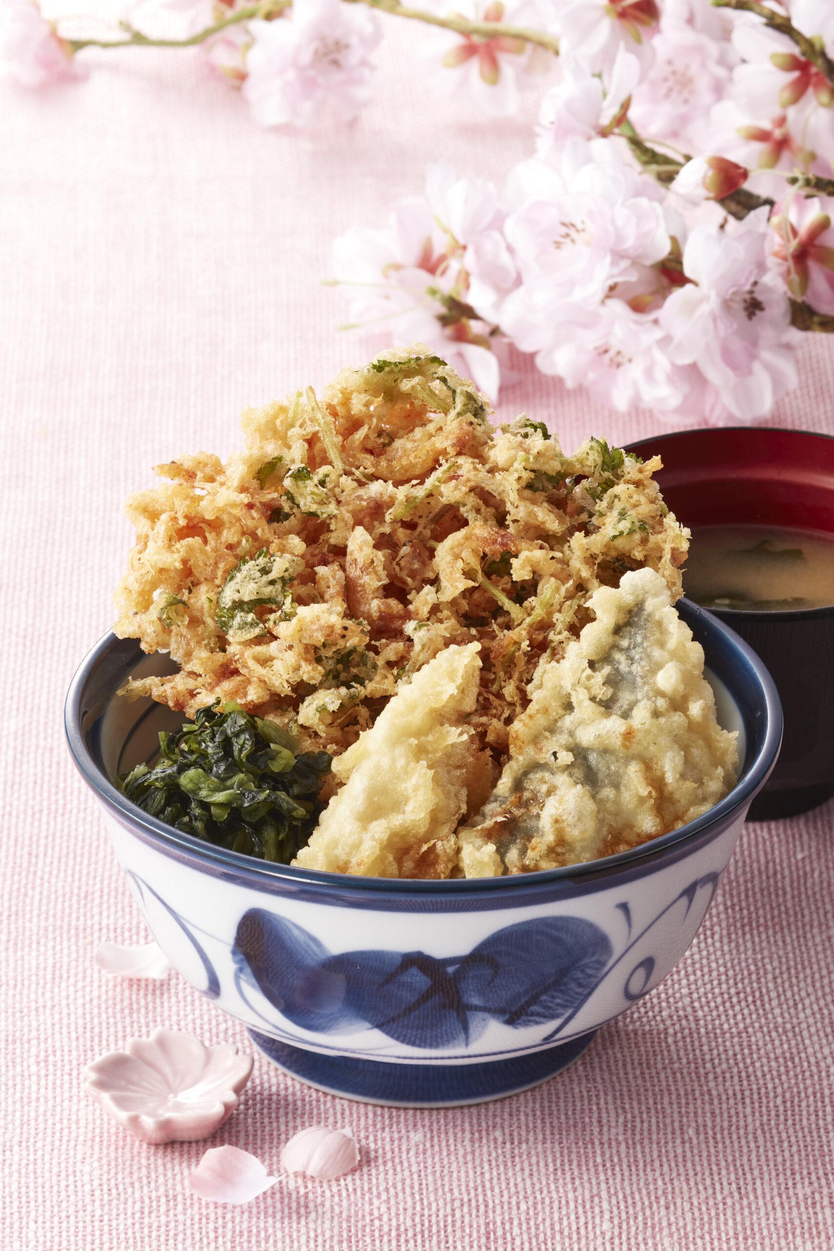 《天丼てんや》の春の名物『桜海老天丼』、今年も2月18日(木)から登場!