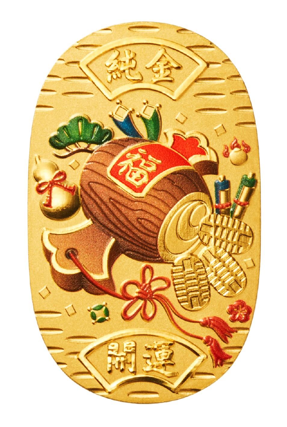 ギンザタナカより、純金小判に色鮮やかな彩色を施した新作が登場 新作「純金小判 宝小槌 20g」9/1より販売開始に